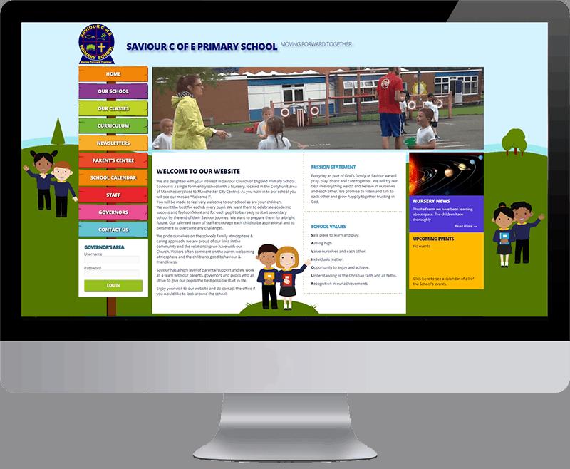 Wordpress website for Saviour CofE Primary School Manchester