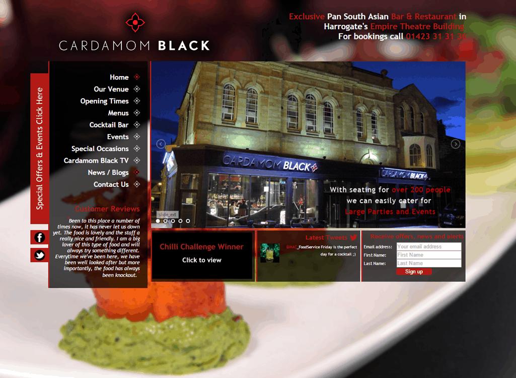 Cardamom Black - Harrogate - Websites and Web Design by 418Design