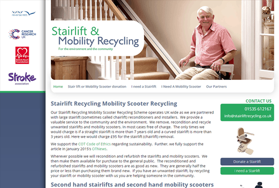 Stairlift Recycling Keighley