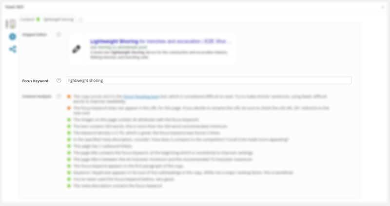 Focus Keyword Screenshot