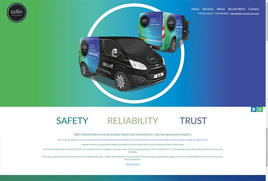 Adlin Electrical Skipton Website Preview