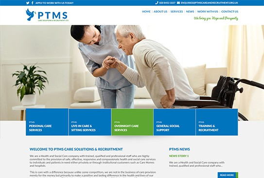 PTMS Care Website Thumbnail Preview