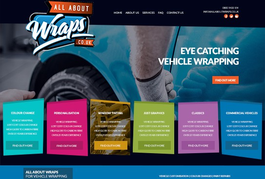 All About Wraps Web Design Thumbnail