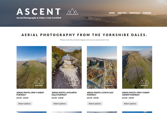 Ascent Aerial Web Design Thumbnail