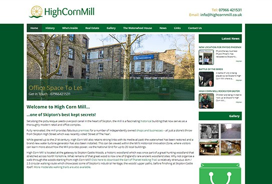 High Corn Mill Web Design Thumbnail
